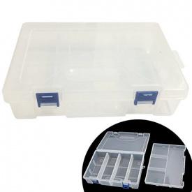Коробка органайзер для радіодеталей Arduino подвійний 22х15 см