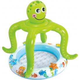 Детский надувной бассейн Intex 57115 с навесом осьминожка