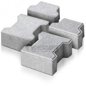 Плитка тротуарна Гантель ТД Моноліт-Брук 60 мм сірий (414-1018-1)