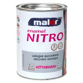 Нітроемаль біла MALER 0,8 кг