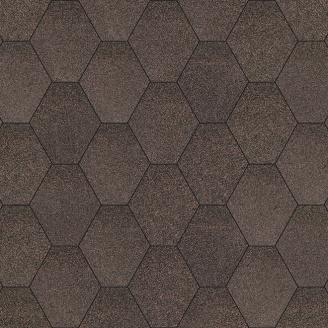 Бітумна черепиця Aquaizol Мозаїка 320х1000 мм брауні