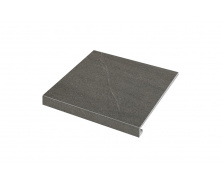 Ступенька угловая правая Zeus Ceramica Calcare black 34,5x30x3,5x0,92 см (SZRXCL9ВRC2)