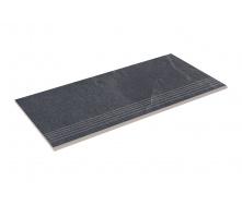 Ступень прямая с насечкой Zeus Ceramica Slate black 60x29,3 см (SZRXST9BRNQ)