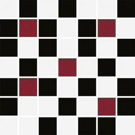 Плитка Ceramika Konskie Michelle White-Black Mosaic мозаика 20х20 см (ICT0700007G1)