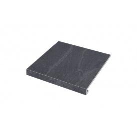Ступенька угловая левая Zeus Ceramica Slate nero 30x34,5 см (SZRXST9RC1)
