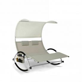 Шезлонг, лежак садовый кресло для отдыха Kesser KE-15556 Бежевый
