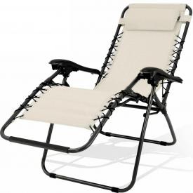 Шезлонг, лежак садовый кресло для отдыха Kesser (KE15235) Бежевый