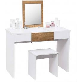 Туалетный гримерный столик с зеркалом Woltu MB6048 Белый
