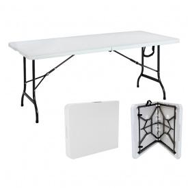 Складной стол для кемпинга садовый 183 см KESSER® белый