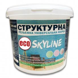 Краска структурная акриловая Skyline ECO для создания рельефа универсальная 5 л