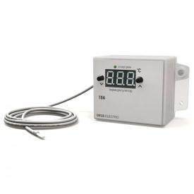 Терморегулятор регулятор температуры цифровой для накладного монтажа DEUS Electro ТР-10 Н-12 V (10 А 12 В)