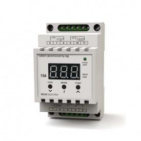 Таймер циклический цифровой на DIN-рейку DEUS Electro ТЦ-15 Д 15 А 220 В