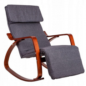 Кресло качалка GoodHome 02 WALNUT 120кг