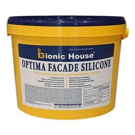 Optima Facade Silicone -матовый- силиконовая краска для окраски поверхностей внутри и снаружи зданий 14 кг