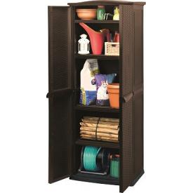 Ящик для хранения Keter RATTAN STYLE - TALL SHED Compact Garden 430 л