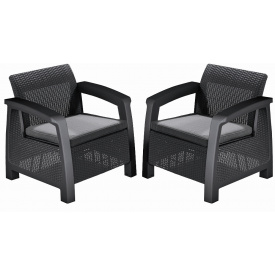 Кресло Keter Bahamas, графит - прохладный серый (3253929000478)