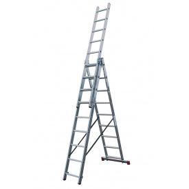 Трехсекционная лестница KRAUSE Corda 3x9 ступеней 30399
