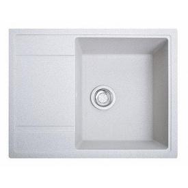 Кухонна мийка гранітна ОПТИМА білий