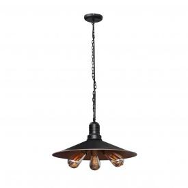 Светильник подвесной в стиле лофт на три лампы MSK Electric Е27 металл (NL 453)