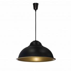 Светильник подвесной в стиле лофт Купол MSK Electric Е27 (СП 3614 BK+GD)