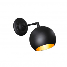 Бра в стилі лофт Msk Electric Куля ширина 150м настінний кулька (NL 1512-1BK+GD)