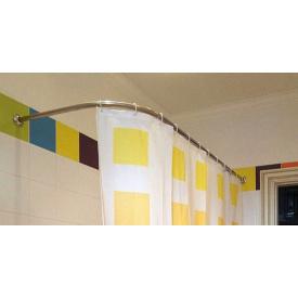 Карниз дуга в ванную для поддона 140x70 полукруглый Ф25 ЛЮКС