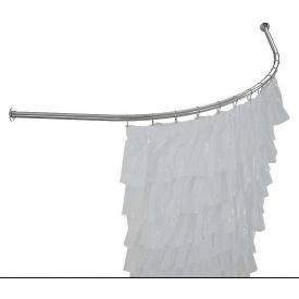 Карниз в ванную 150x150 полукруглый дуговой цельный ЛЮКС