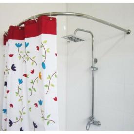 Карниз в ванную для поддона 100x100 г-образный Комфорт