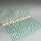 Профиль PVC Уголок пластиковый с армирующей сеткой 3 м