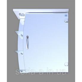 Навесной зеркальный шкаф в ванную комнату с подсветкой ТОРИНО
