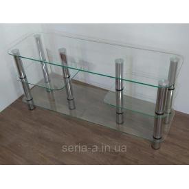Тумба ТВ Ривьера 1000х350х520 мм прозрачное стекло