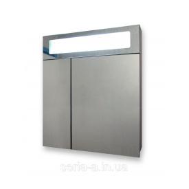 Зеркальный шкафчик панорамного типа для ванной с оригинальной подсветкой А24-60 (ВЕНГЕ)