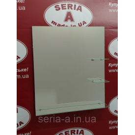 Зеркало в ванную на три полки №68 (687х600х120 мм)