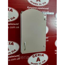 Навесной шкафчик в ванную с фигурным зеркальным фасадом А 11-40