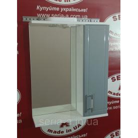 Зеркальный шкаф с подсветкой Z-1\4 - 60 серый
