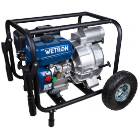 Мотопомпа для грязной воды Wetron 7,5 к с Hmax 26 м Qmax 60 м 4-ёх тактный (772557)