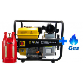 Газовая мотопомпа Rato RT80ZB28-3.6Q ГАЗ-БЕНЗИН