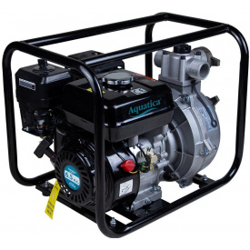 Мотопомпа Aquatica 6,5 л. с. Hmax 70 м Qmax 33 м (4-ех тактный) (772535)