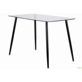 Стіл обідній Умберто чорний/скло прозоре, арт.521449 AMF