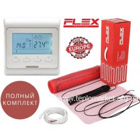 Теплый пол Flex EHM 1м²/175Вт/ 175Вт/м² двухжильный кабельный мат под плитку с программируемым терморегулятором E51