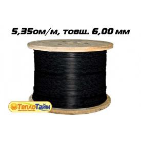 Одножильный нагревательный кабель TXLP BLACK DRUM 5,35 OM/M
