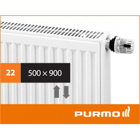 Сталевий панельний радіатор PURMO Ventil Compact 22 500x 900