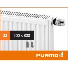 Сталевий панельний радіатор PURMO Ventil Compact 22 500x 800