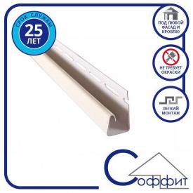Планка Соффіт J біла Т-15, 3.66м