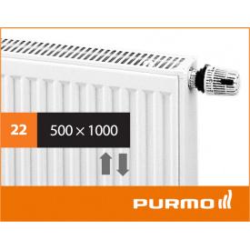 Сталевий панельний радіатор PURMO Ventil Compact 22 500x 1000