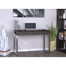 Письменный-компьютернй стол Loft-Design L-11 металлически ножки столешница лдсп темный венге-корсика