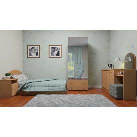 Одномісна спальня Компанит набір меблів №5 дсп вільха
