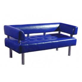 Диван-офис Тонус Sentenzo 140х60 см с подлокотниками синий кожзам