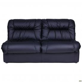 Двухместный офисный диван АМФ Визит 165х96х84 см черный кожзам