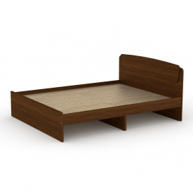 Двуспальная кровать Компанит Классика-140 с ящиками и изголовьем лдсп Орех-эко